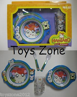 R@RE 2003 Hamtaro 5-Piece Dinnerware Set BRAND NEW!!!