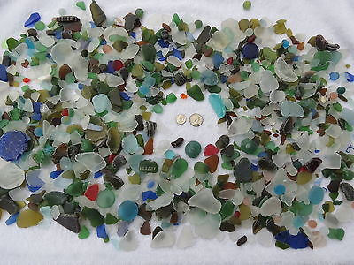 1 One Pound Machine Made Recycled Tumbled Beach Sea Glass Decoration