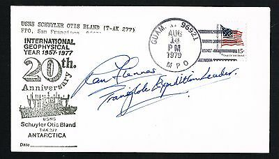 Ranulph Fiennes signed autograph auto First Day Guam Cover FDC Explorer