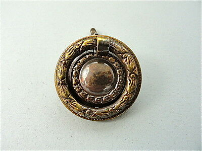Classic Quality Brass Antique Style Furniture Drawer Ring Pull Handle W82