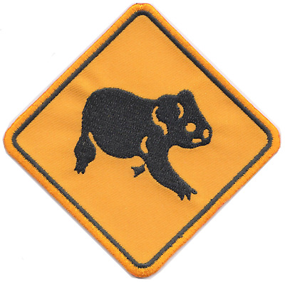 Australia Road Sign Koala Bear Embroidered Patch Badge