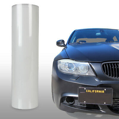 "Protection Clear Bra Vinyl Overlay Wrap Sheet Bumper Headlight Hood - 12"" x 48"""