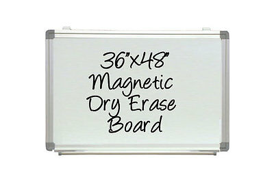 """Neoplex 32"""" X 44"""" Aluminum Framed White Magnetic Dry Erase Wall Board Class Room"""