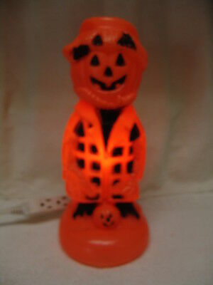 Vintage  Halloween Lighted Scarecrow Blow Mold Free Shipping