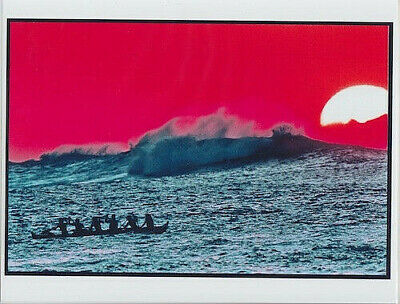 CANOE PADDLERS ART PRINT 8.5 x 11 INCH UNMOUNTED GICLEE FROM VELVIA PHOTOGRAPH