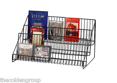 3 Tier Wire Counter Literature Book Display Rack