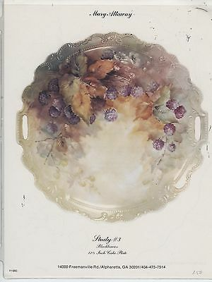 Blackberries #3 by Mary Attaway China Painting Study 1980