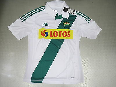 Maillot Lechia Gdansk Home 11/12 Original Adidas Taille 36 40 44 48 52 56 XXXL