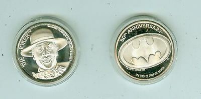 50th Anniversary DC Comics Limited Joker One Troy OZ Fine Silver Coin(USA 1989)