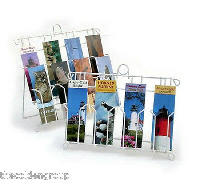 "Planet Racks 8 Pocket White 2 3/4"" Bookmark Display Stand"