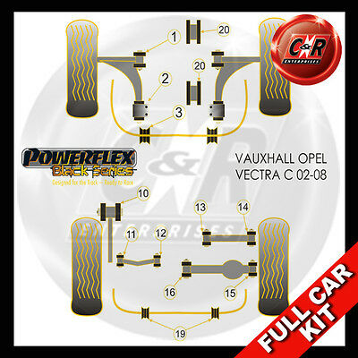 Vauxhall Opel Vectra C 02-08 Powerflex Black Kit R.UpArm Out Bush47mm 1PceARBMnt