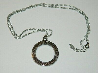 Stargate Atlantis TV Series Stargate Antique Silver Toned Necklace, NEW UNUSED