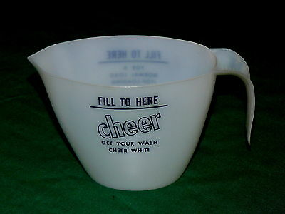 """Vintage! CHEER """"Clothes Washing"""" DETERGENT : Measuring CUP"""