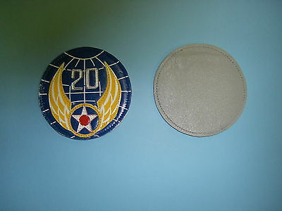 b1068 WW 2 US Army 20th Air Force patch  leather