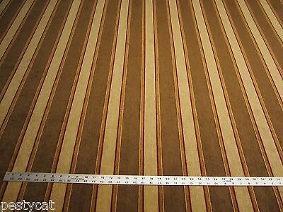 5 5/8 yards of chenille stripe upholstery fabric r9995
