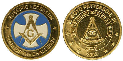 MEDAGLIA MEDAL MASSONERIA THE GRAND LODGE OF TEXAS  con smalti #MD2999