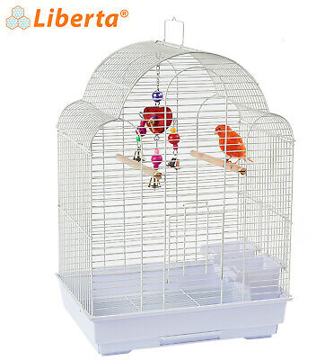 Dy700A Medium White Bird Canary Finch Budgie Cage Pull Out Tray Feeders Handle