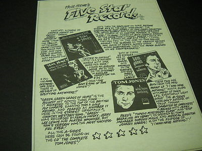 TOM JONES 1999 Promo Display Ad for Multi Album Review clever record reviews