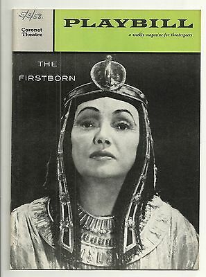 Playbill The Firstborn Coronet Theatre Apr 1958 FREE SHIPPING