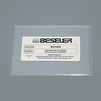 Anti-Newton Ring Top Glass for Beseler 4x5 Glass Negative Carriers