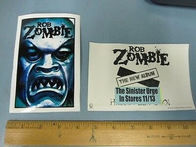 ROB ZOMBIE 2001 BIG sinister urge promotional sticker!~MINT condition~!