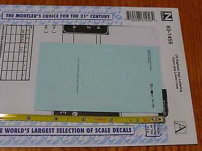 Microscale Decal N #60-1456 US Highway Sign Lettering Upper and Lower Case(Decal
