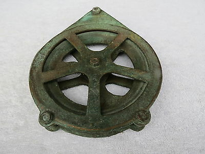 6+1/4 Inch Brass Bronze Fishing Pulley Block Boat Ship  (#023)