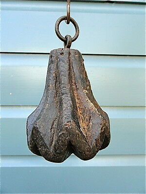 BEAUTIFUL ANTIQUE CARVED WOOD HANGING PULL ORNAMENT G1