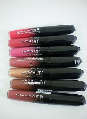RIMMEL show off / apocalips lip lacquer gloss 5.5ml choose shade