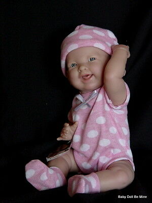 New in Box Berenguer  Doll Happy Real Girl Pink Polka Dots 18512 Made in Spain