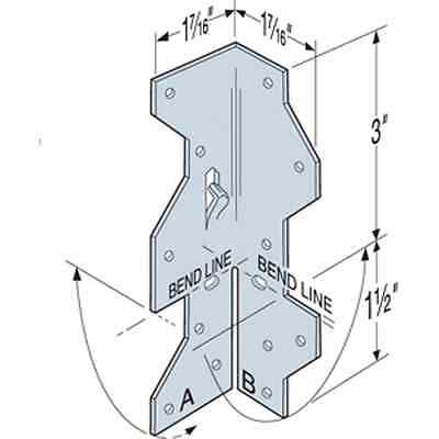 """Simpson Strong-Tie A35 1-7/16"""" x 4-1/2"""" Framing Angle (Pack of 10)"""