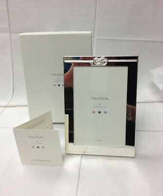 "Vera Wang Infinity ""oh Baby"" Frame 4"" X 6"" Silverplate Brand New In Box Wedgwood"