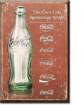 COCA COLA Spencerian Script Coke Miniature  2 Inch by 3 Inch Sign Magnet
