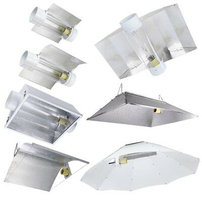 Grow Tent Light Reflector Hoods Air Cooled Tube For 250 400 600 1000w HPS MH Opt