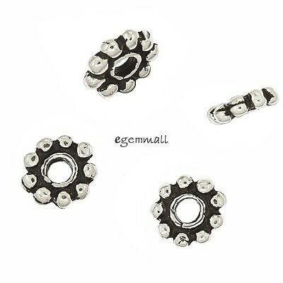 10 Bali Sterling Silver Daisy Spacer Beads 5mm #97743