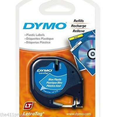 Dymo 91335 Letra Tag BLUE Labels LetraTag XR LT-100T LT-100H & QX50 Refill Tapes