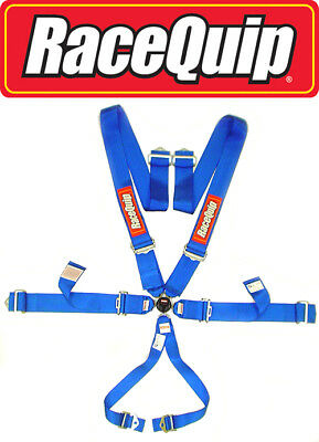 Blue Cam Lock 6 Point Safety Harness Racing Belt Truck Tractor Pull Rock Crawler