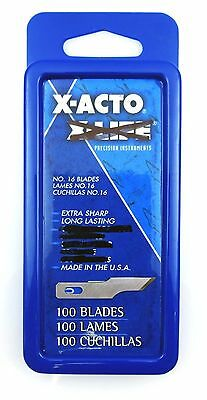 NEW 10 Packs of 100pc X-ACTO Knife Scoring Blades Set No. #16 X616UC Arts Crafts