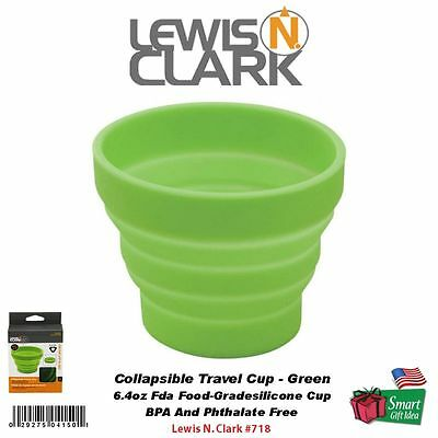 Lewis N. Clark Collapsible Travel Cup, 6.4Oz, FDA Food-Grade Silicone, GRN #718