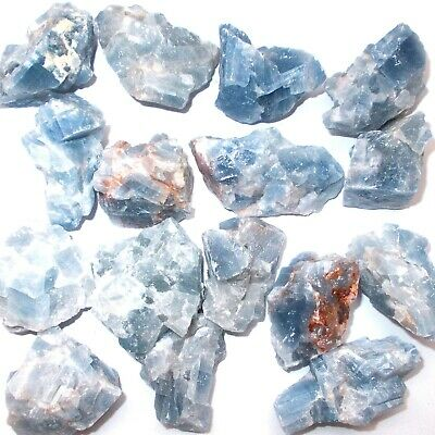 Blue Calcite Mineral Specimen Raw Natural Rough Healing Crystal Calms Soothing
