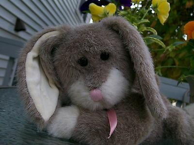"Boyds Plush~Sophie B. Bunny!~23""!~Rare Hare!~Gray & White!~1993!~Pink Ribbon!~"