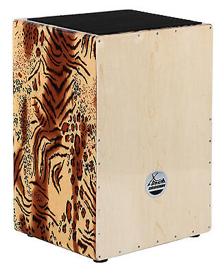 XDrum Cajon Designer Series Wildcat Percussion stimmbare Saiten voller Bass TOP!