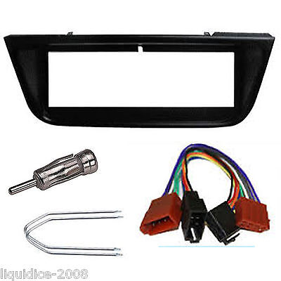 Peugeot 406 Black Single Din Fascia Adaptor Panel 1995 Onwards Fitting Kit Car