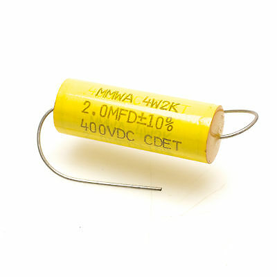 TWO CORNELL DUBILIER CAPACITOR  MPYA 68MFD @ 400VDC  MFD NEW 4P68K