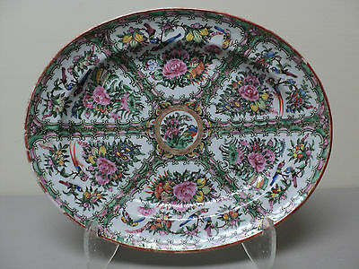 BEAUTIFUL 19th C. CHINESE EXPORT PORCELAIN, CANTON, ROSE MEDALLION PLATTER