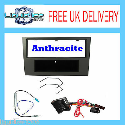 CT24VX06 VAUXHALL ASTRA 2004 to 2010 SINGLE DIN FASCIA  FITTING KIT ANTHRACITE