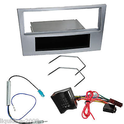 Vauxhall Astra H 2004 Onwards Silver Single Din Fascia Facia Fitting Package Kit