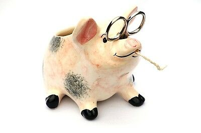 Pig Sow Piglet String Holder Farming Hand Painted Babbacombe Pottery CLEARANCE
