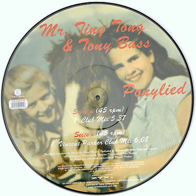 Picture Vinyl Mr Ting Tong & Tony Bass Ponylied