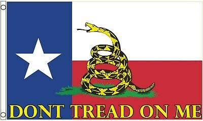 American Don't Tread on Me Gadsden 1775 Texas US State 5'x3' Flag !